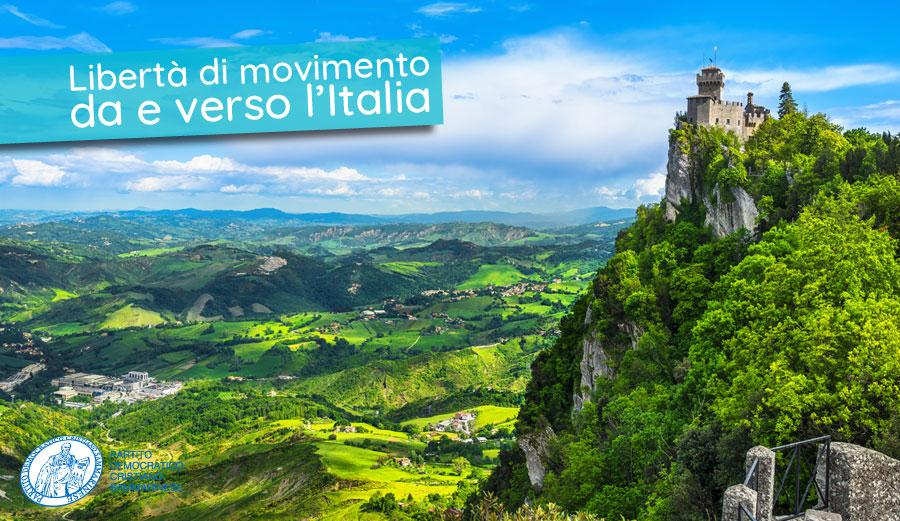 Libertà di movimento da e verso l'Italia