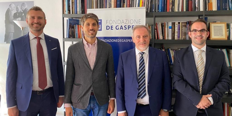 Incontro tra Pdcs, GdC, Fondazione De Gasperi e Fondazione Adenauer a San Marino una mostra sui padri fondatori dell'UE