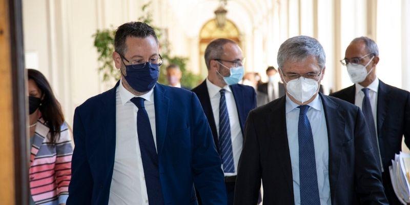 Incontro tra il Segretario di Stato Gatti e Marcello Minenna, Direttore Generale di ADM per l'organizzazione di un tavolo di lavoro sul tema delle dogane